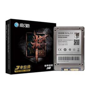 影驰 铁甲战将(240GB)台式机固态硬盘高速笔记本电脑SSD非256G 黑色
