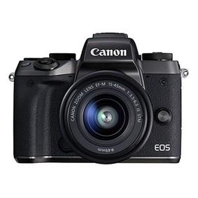 佳能(Canon)EOS M5 (EF-M 15-45mm f/3.5-6.3 IS STM) 微型单电套机 黑色 高速对焦 高速连拍 黑色